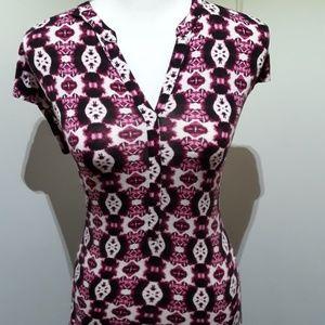Dana Buchman womens cotton patterned shirt